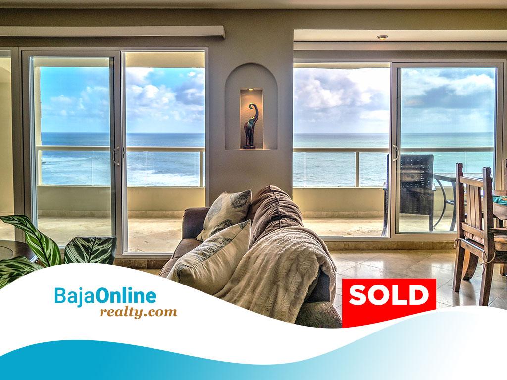SOLD – Oceanfront Condo For Sale in La Jolla del Mar, Playas de Rosarito – USD $279,000